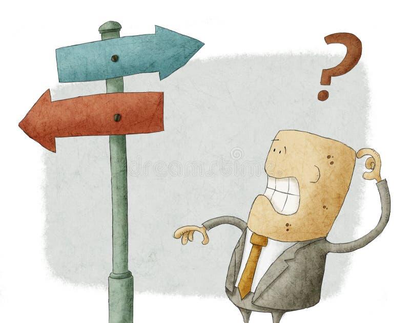 Choix d'homme d'affaires illustration de vecteur