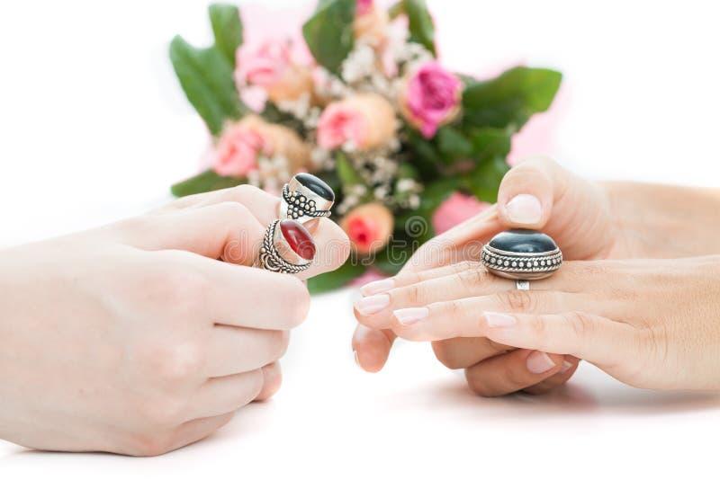 Choix d'un anneau photo stock