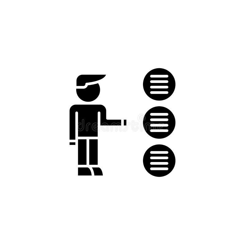 Choix d'un concept d'icône de noir d'option Choix d'un symbole plat de vecteur d'option, signe, illustration illustration de vecteur