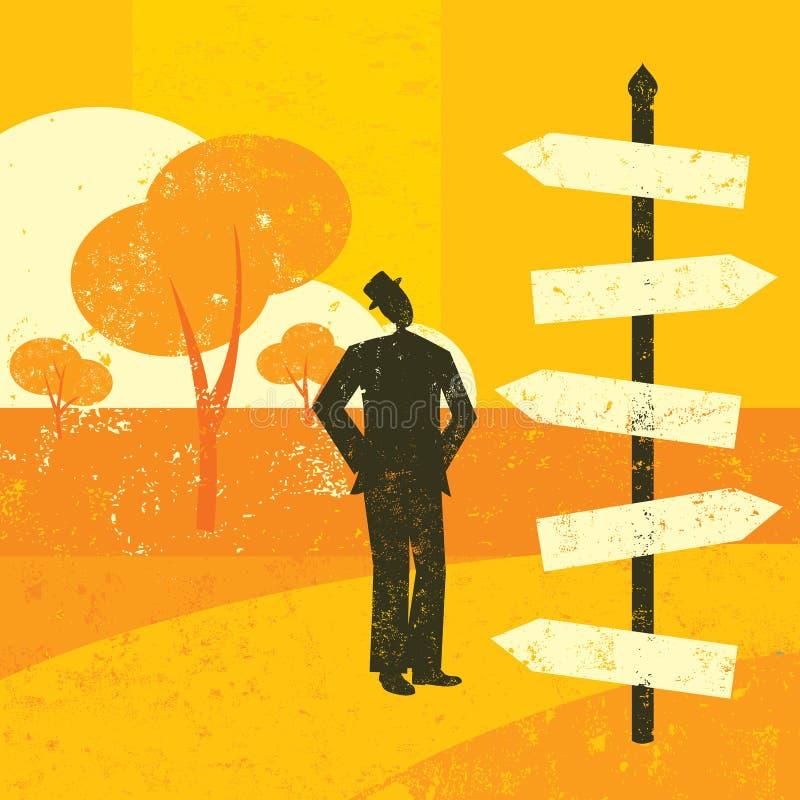 Choix d'une destination illustration libre de droits