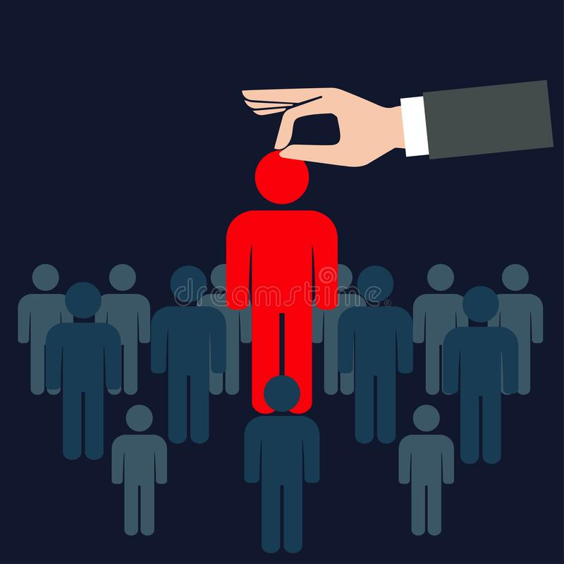 Choix d'une personne de la foule illustration libre de droits