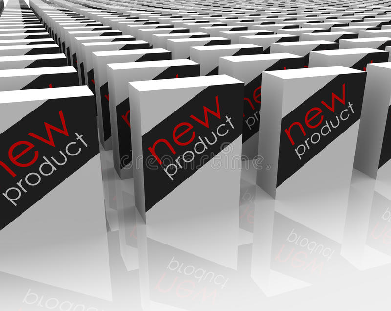 Choix de achat de magasin de paquets de boîtes de nouveaux produits meilleur illustration de vecteur