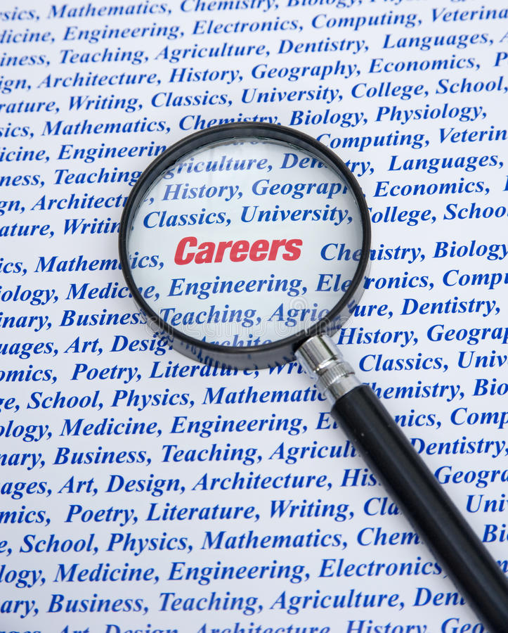 Choix de carrière. images stock