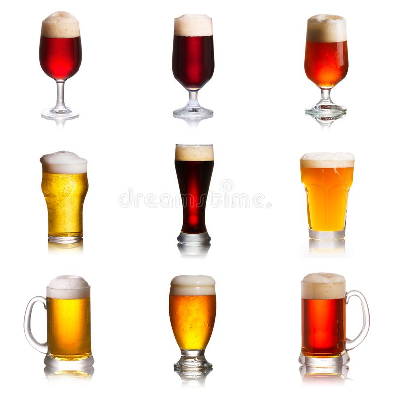 Choix de diverses sortes de bières Sélection de divers types de bière, bière anglaise photographie stock