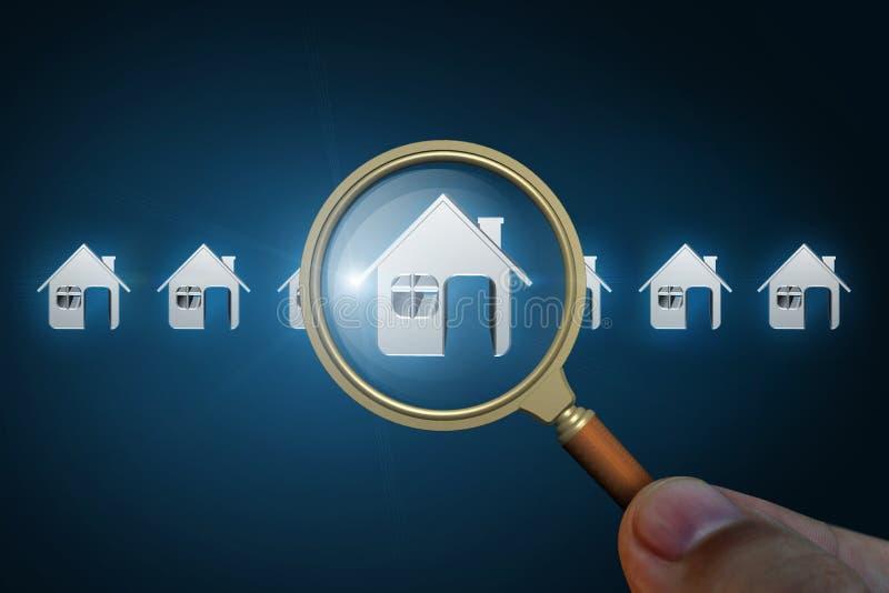 Choix de la maison dans un résultat de recherche photo stock
