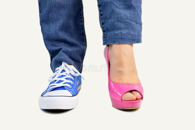 Choix de mes chaussures photo libre de droits