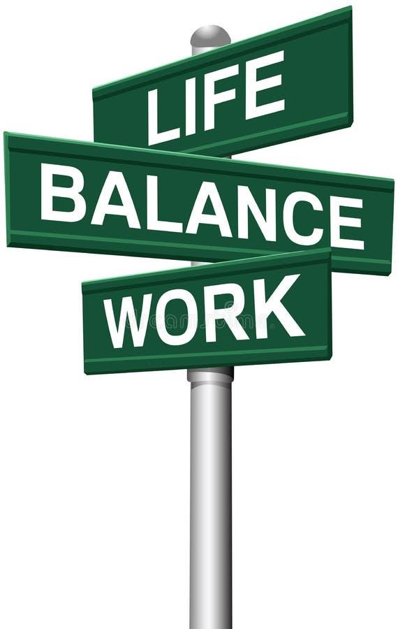 Choix de travail d'équilibre de la vie de signes illustration stock