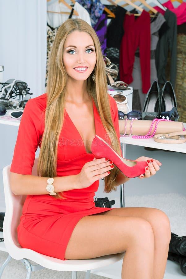 Choix des chaussures photo stock