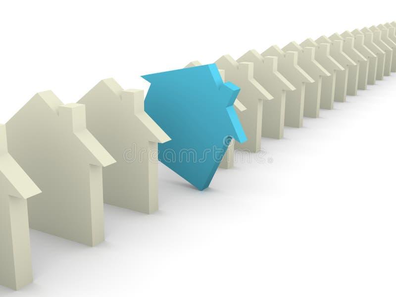 Choix du concept de maison illustration libre de droits