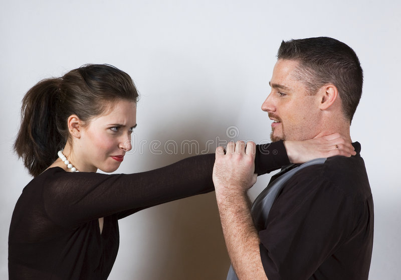 Choke Hold Stock Image
