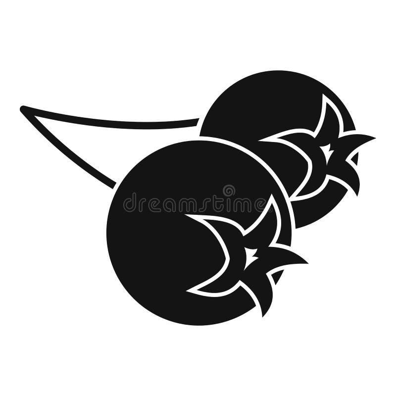 Chokeberry- oder aroniabeerenikone, einfache Art vektor abbildung