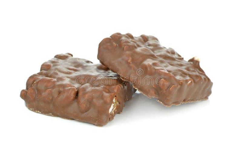 Choklad - bestrukna pustaa riskex royaltyfri fotografi