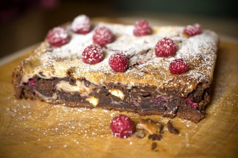 Choklad Brownie Cake royaltyfri fotografi