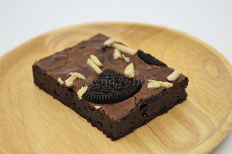 Choklad Brownie Cake, hemlagat nytt mål, bra mål royaltyfria foton