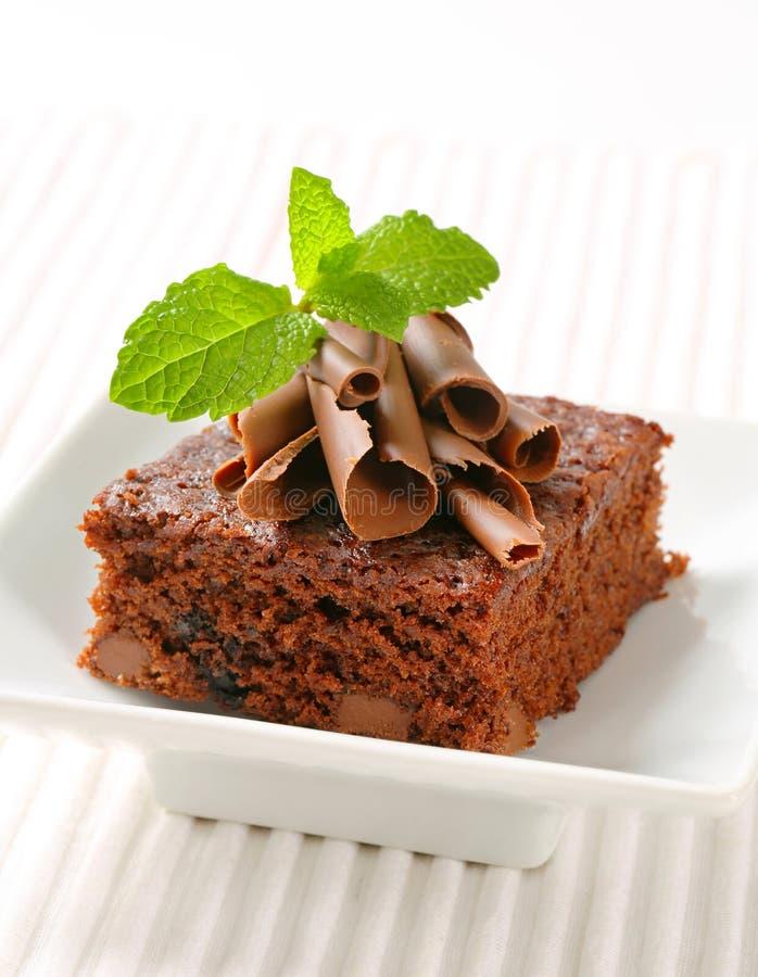 Choklad Chip Brownie royaltyfria bilder