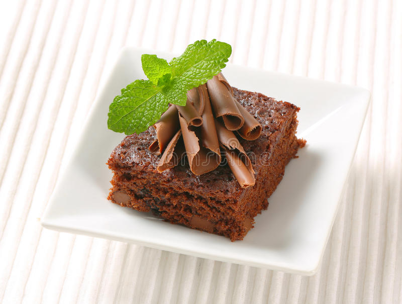Choklad Chip Brownie royaltyfri fotografi
