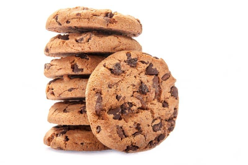 Choklad Chips Cookies royaltyfri fotografi