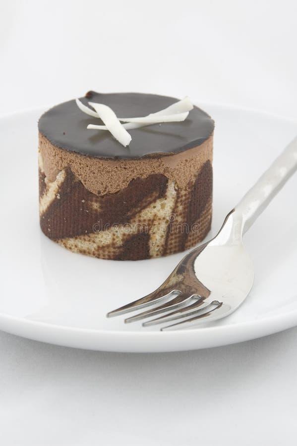 choklad för 2 cake fotografering för bildbyråer
