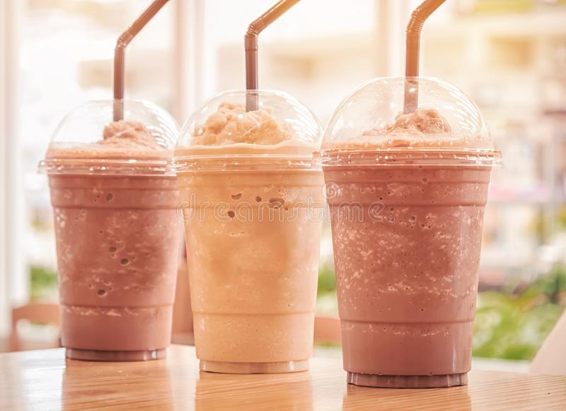 Choklad Frappe och Frappuccino royaltyfri bild