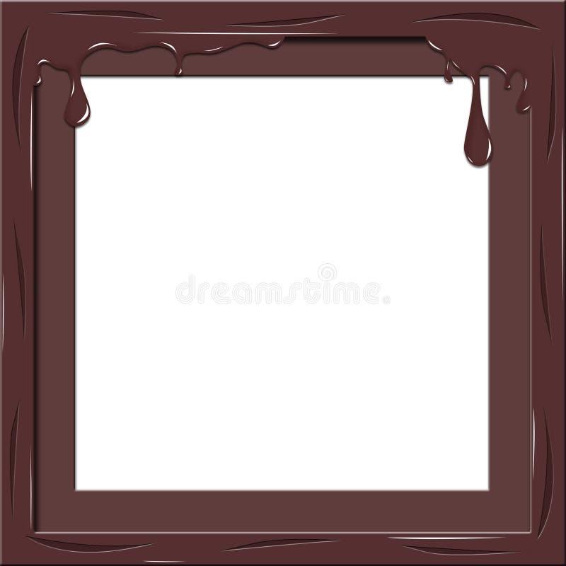 Choklad inramar vektor illustrationer