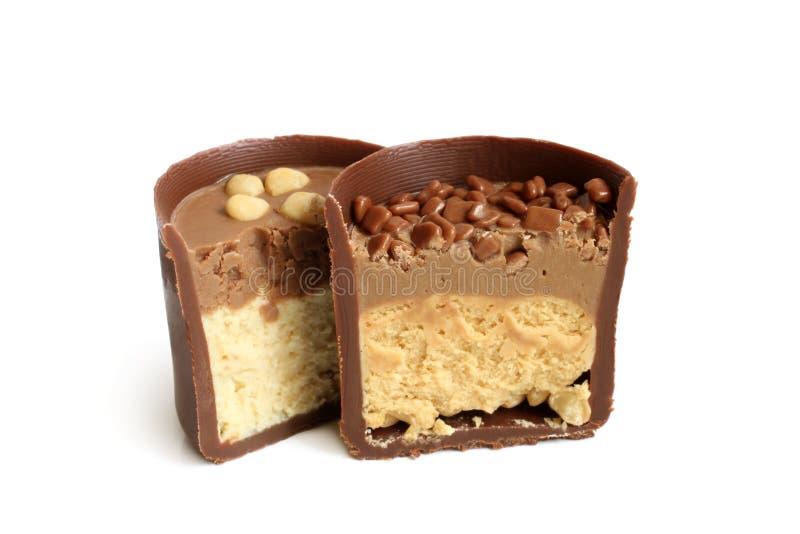 choklad isolerad sötsak arkivbilder
