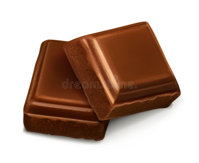 Choklad lappar illustrationen royaltyfri illustrationer