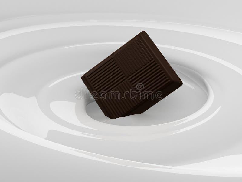 choklad mjölkar vektor illustrationer