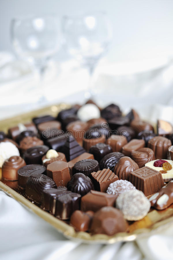 Choklad och praline royaltyfri foto