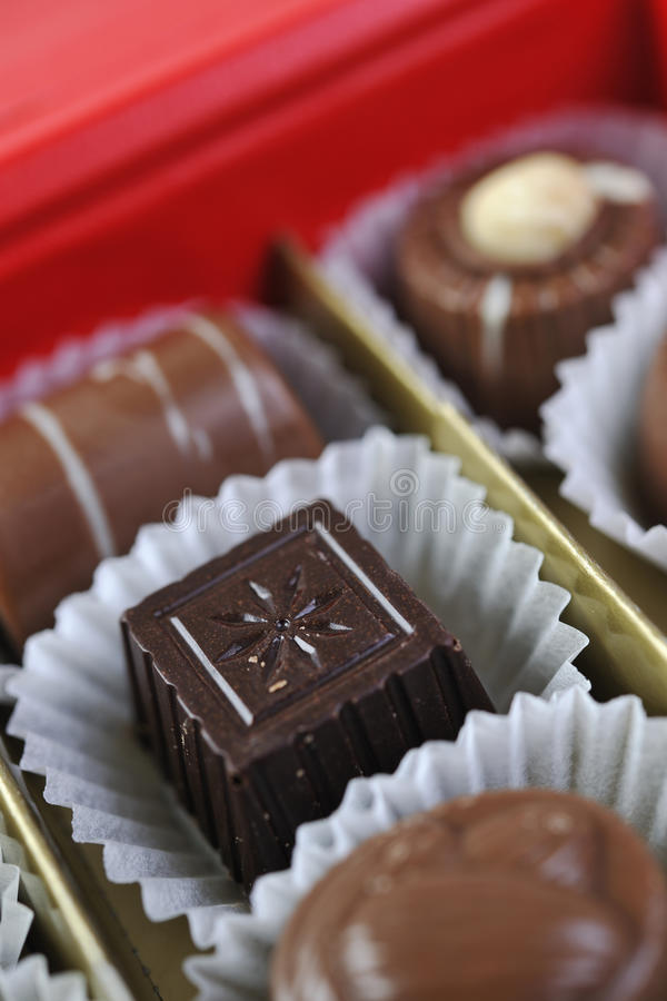 Choklad och praline royaltyfri bild