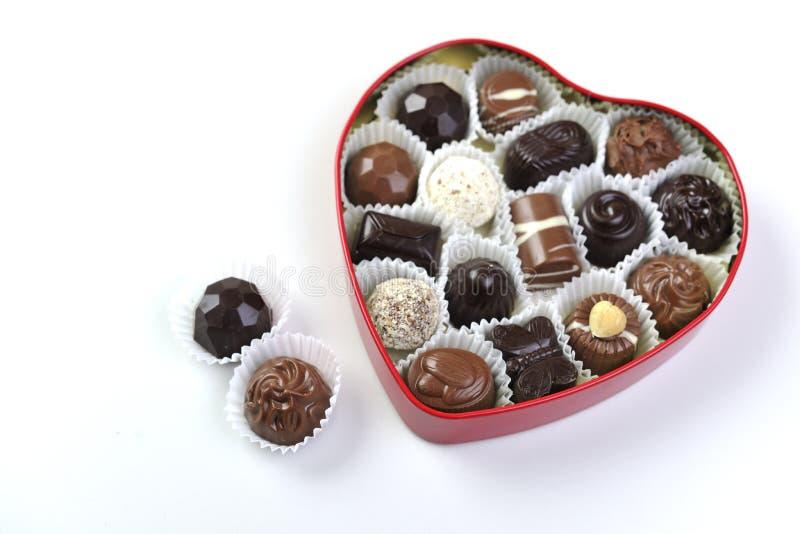 Choklad och praline royaltyfria foton