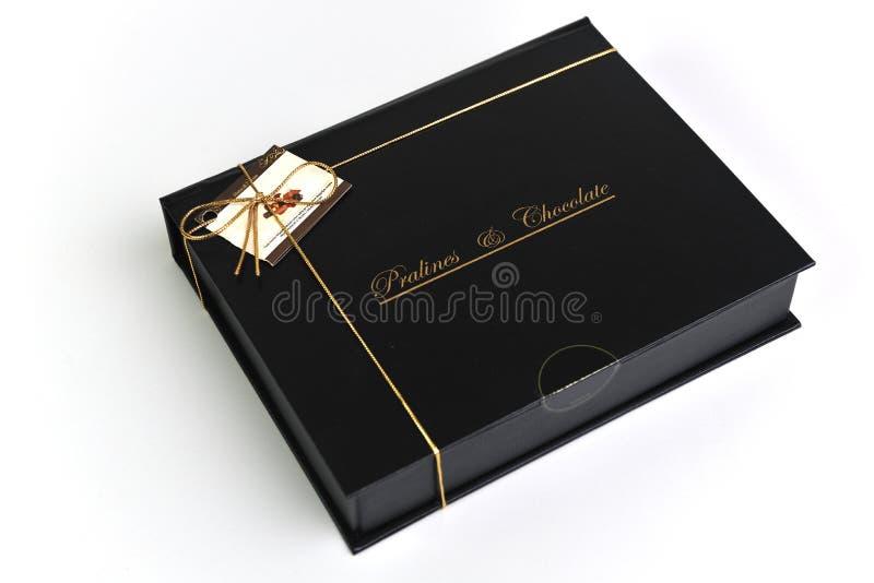 Choklad- och pralineask royaltyfri fotografi
