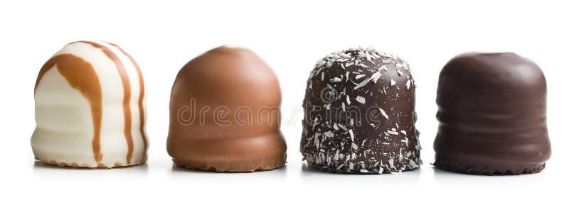 choklad räknade marshmallows royaltyfria bilder