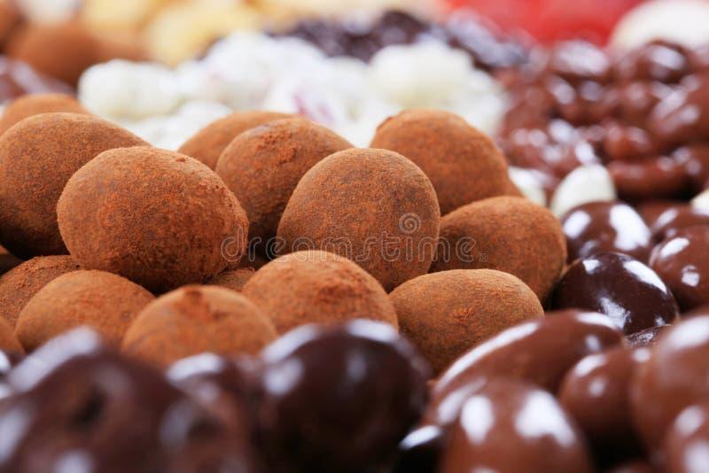 choklad räknade muttrar royaltyfri bild