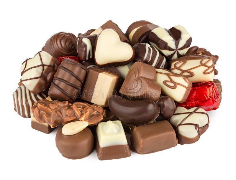 Chokladbrända mandlar royaltyfria bilder