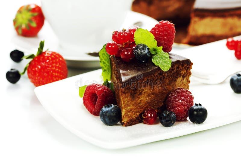 Chokladcake arkivfoto
