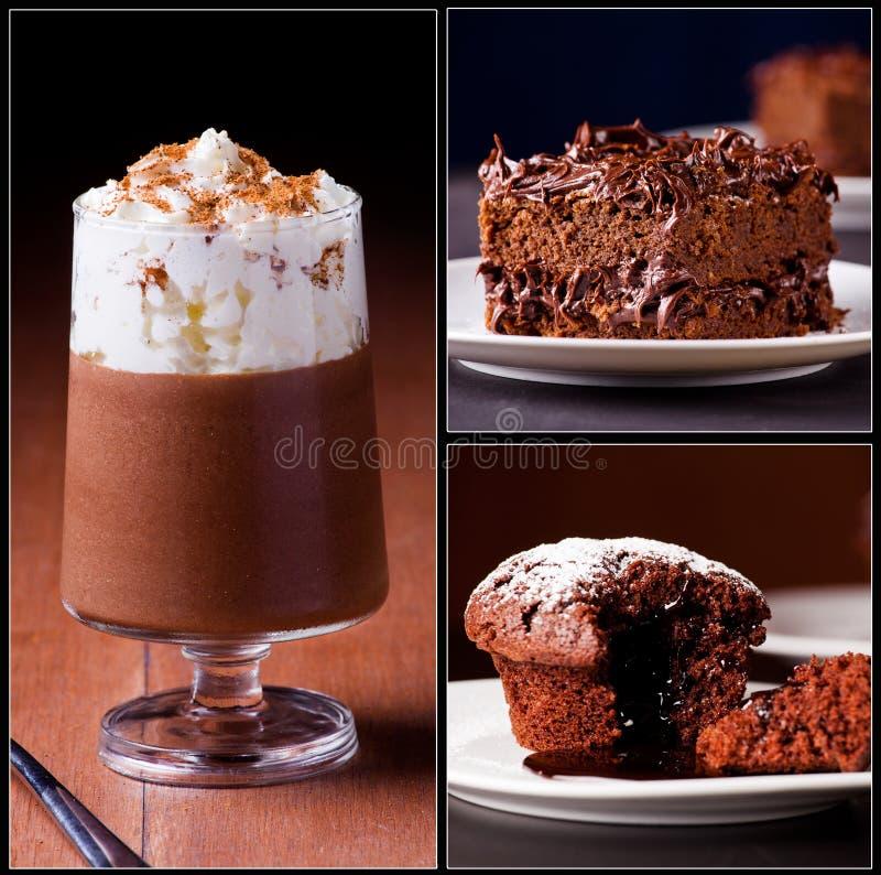 Chokladcollage fotografering för bildbyråer