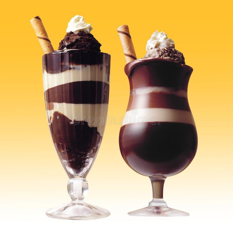 chokladdrinkar arkivfoto