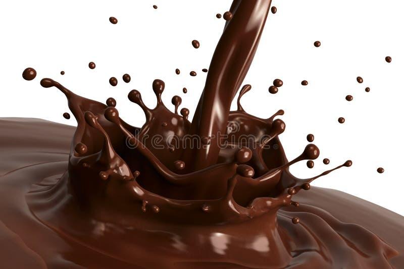 Chokladfärgstänk stock illustrationer