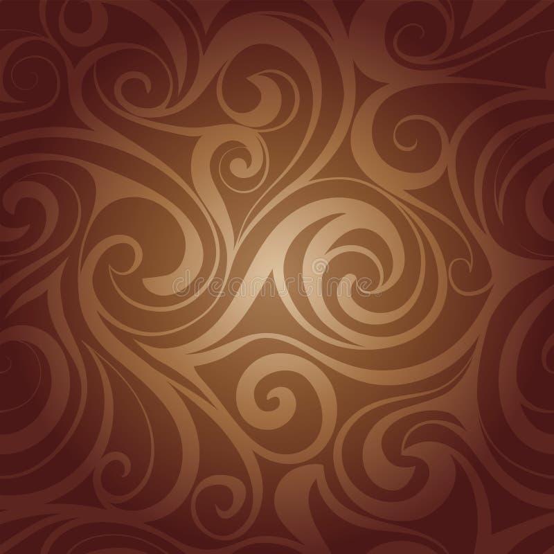 Chokladflytandevirvlar stock illustrationer