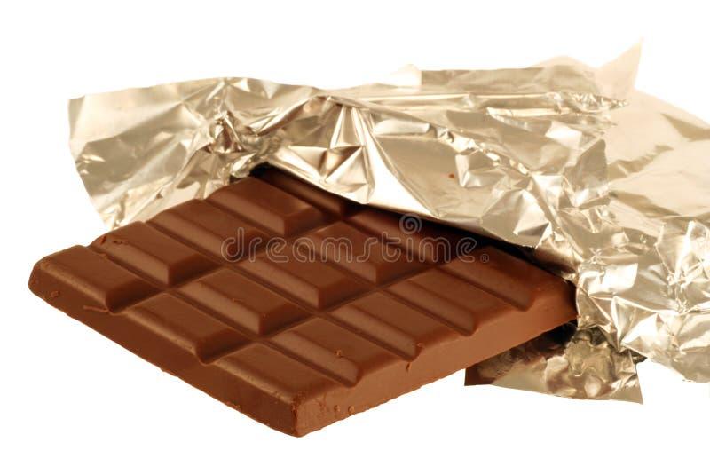 chokladfolie arkivfoto