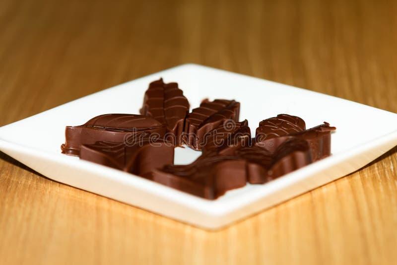Chokladformer royaltyfria bilder
