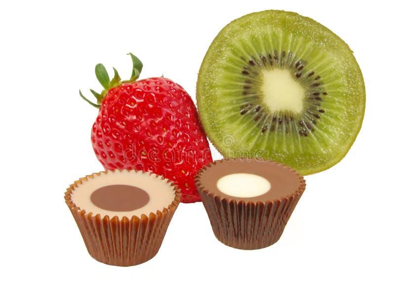 chokladfrukter royaltyfri bild