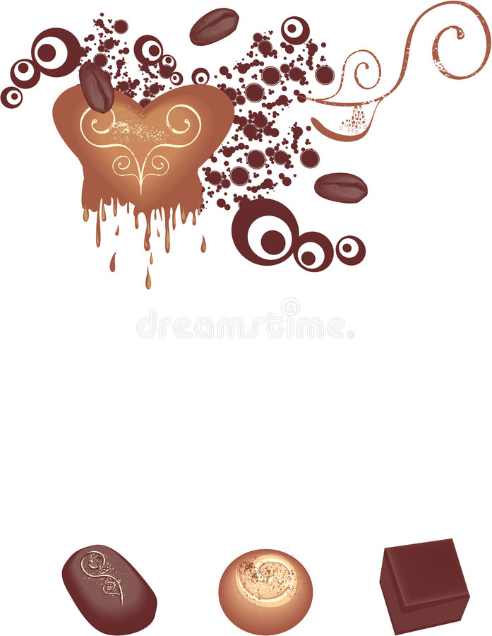 chokladgourmet royaltyfri illustrationer