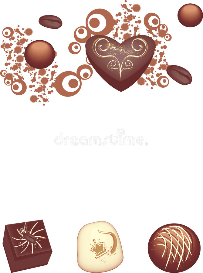 chokladgourmet vektor illustrationer