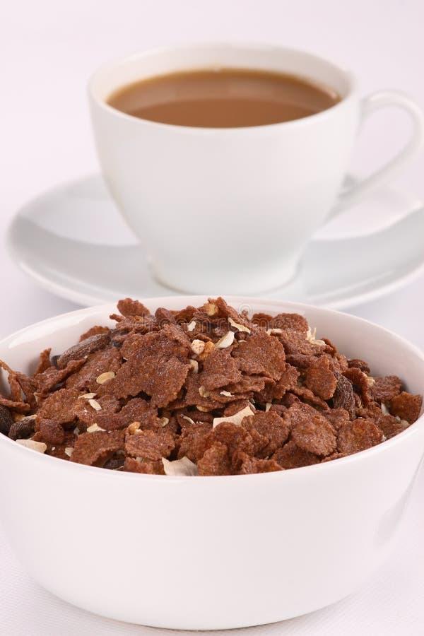 chokladhavreflakes arkivbilder