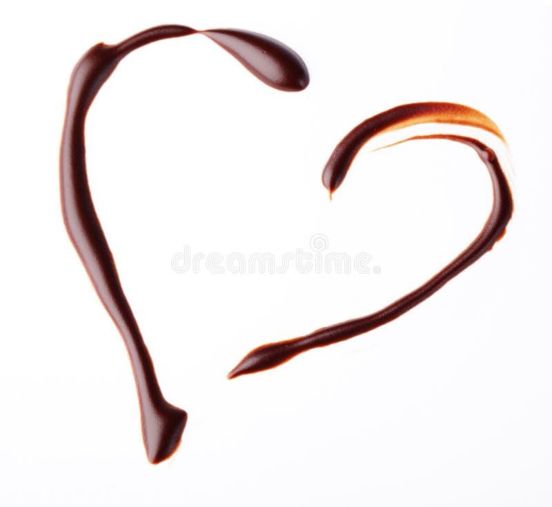 chokladhjärta royaltyfria bilder