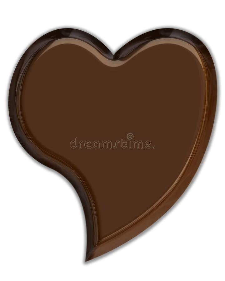 chokladhjärta vektor illustrationer