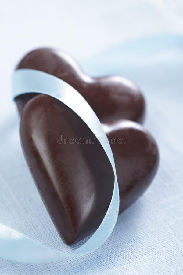 chokladhjärtor fotografering för bildbyråer