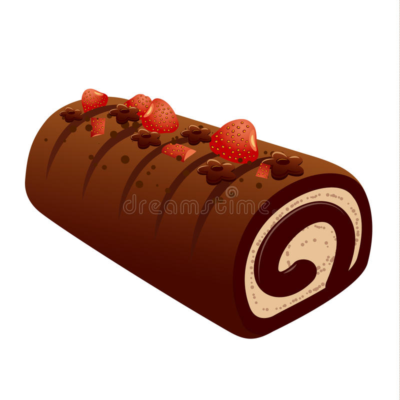 Chokladkaka royaltyfri illustrationer