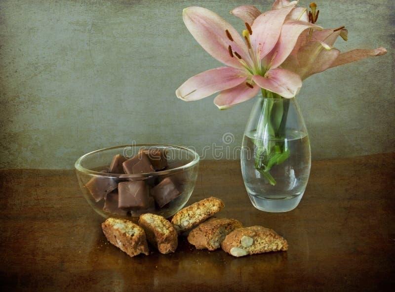chokladkakablommor vektor illustrationer